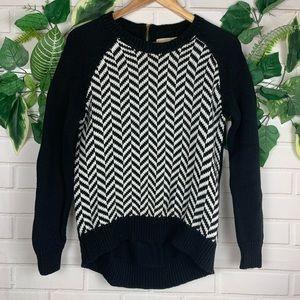 Michael Kors black and white sweater size Medium